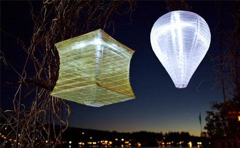 Soji Solar Square Silk Lantern