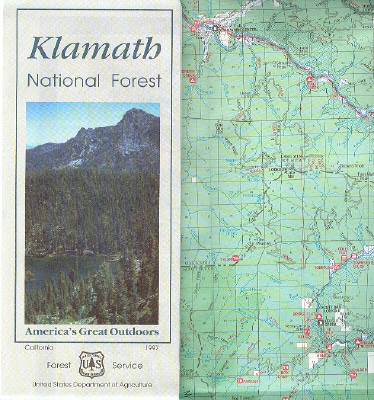 Klamath National Forest Map - Northwest Nature Shop