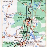 Pacific Crest Trail Southern Oregon Map - Northwest Nature Shop